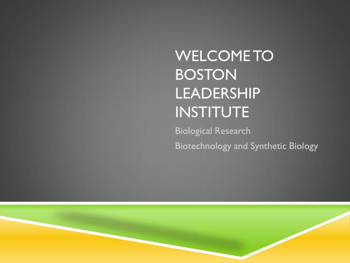 welcome to boston leadership institute n.