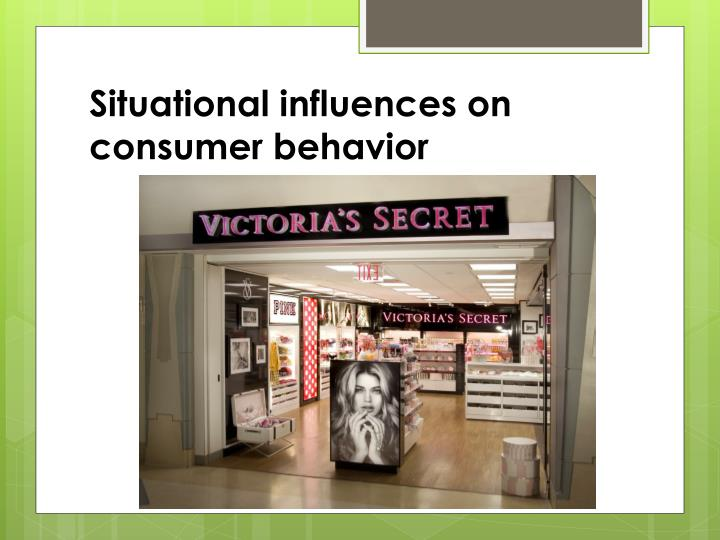 situational influences on consumer behavior n.