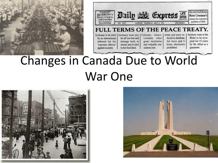changes in canada due to world war one n.