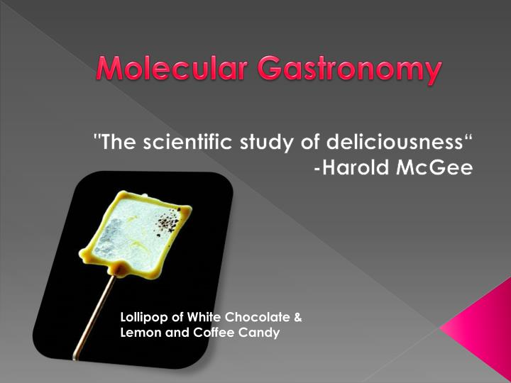 research critique of molecular gastronomy