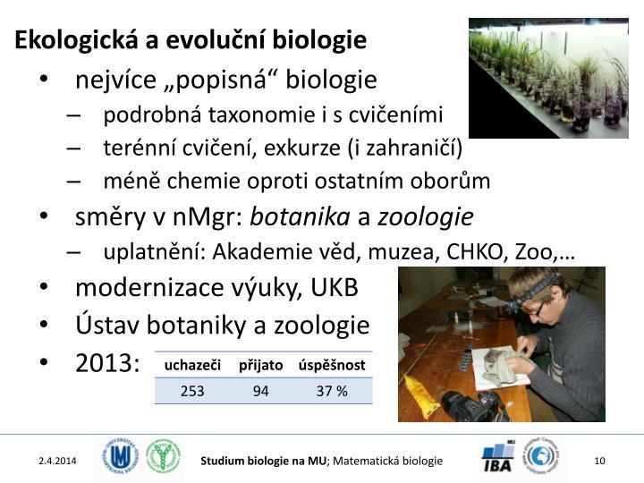 Ekologická a evoluční biologie