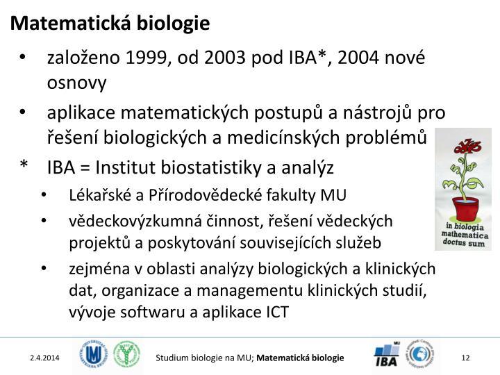 Matematická biologie
