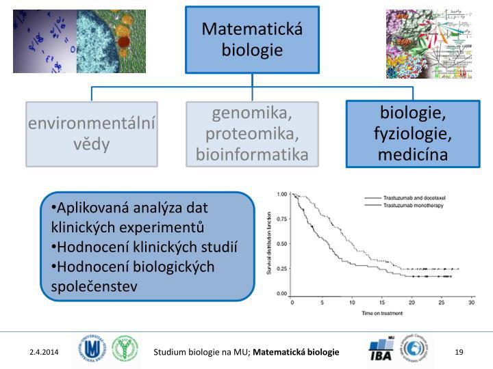 Aplikovaná analýza dat klinických experimentů