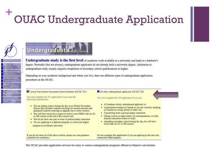 OUAC Undergraduate Application