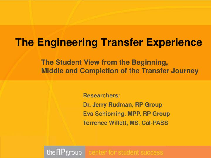 the engineering transfer experience n.