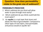question how does permeability relate to the grain size of sediment