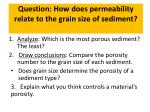 question how does permeability relate to the grain size of sediment3