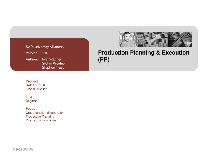 production planning execution pp n.