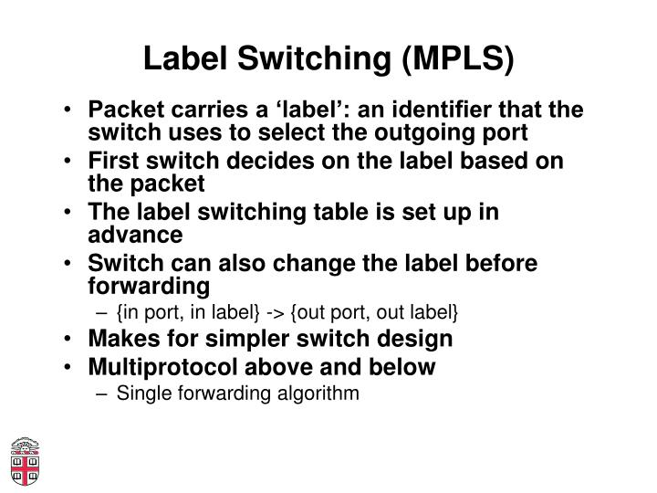 Label Switching (MPLS)