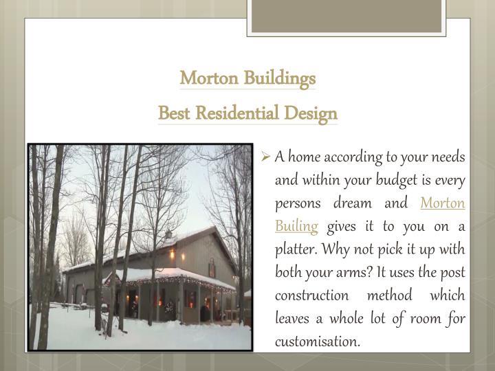 Morton buildings best residential design