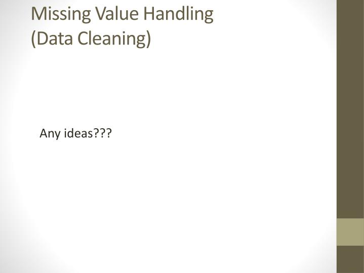 Missing Value Handling