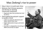 mao zedong s rise to power