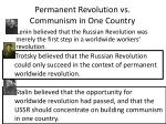 permanent revolution vs communism in one country