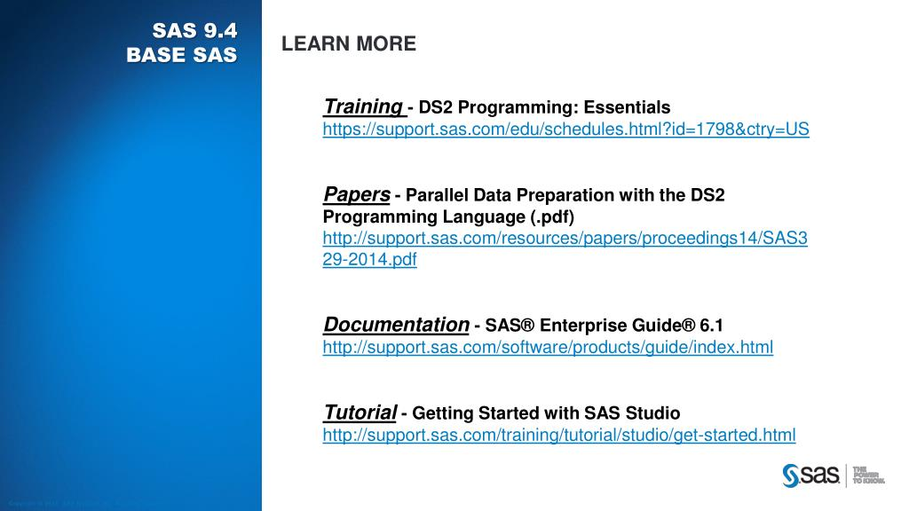PPT - What's New in SAS PowerPoint Presentation - ID:1608808