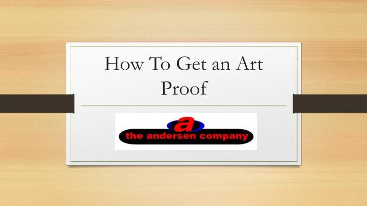 how to get an art proof n.