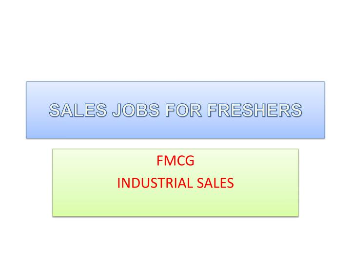 sales jobs for freshers n.