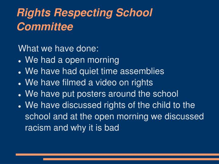 Rights respecting school committee
