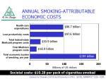 annual smoking attributable economic costs