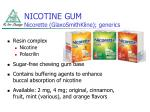 nicotine gum nicorette glaxosmithkline generics