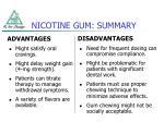 nicotine gum summary