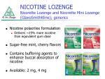 nicotine lozenge nicorette lozenge and nicorette mini lozenge glaxosmithkline generics
