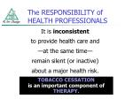 the responsibility of health professionals