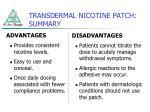 transdermal nicotine patch summary