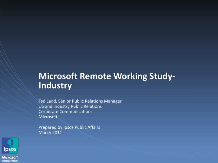 microsoft remote working study industry n.