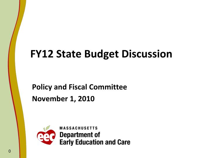 Fy12 state budget discussion