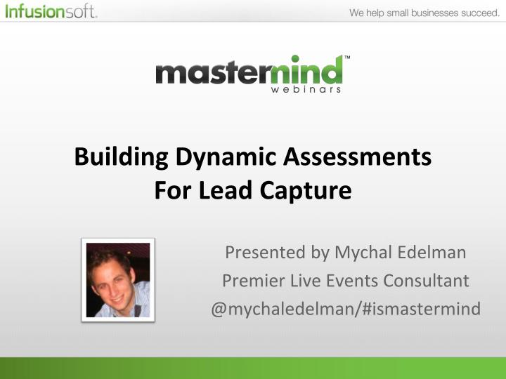 building dynamic assessments for lead capture n.