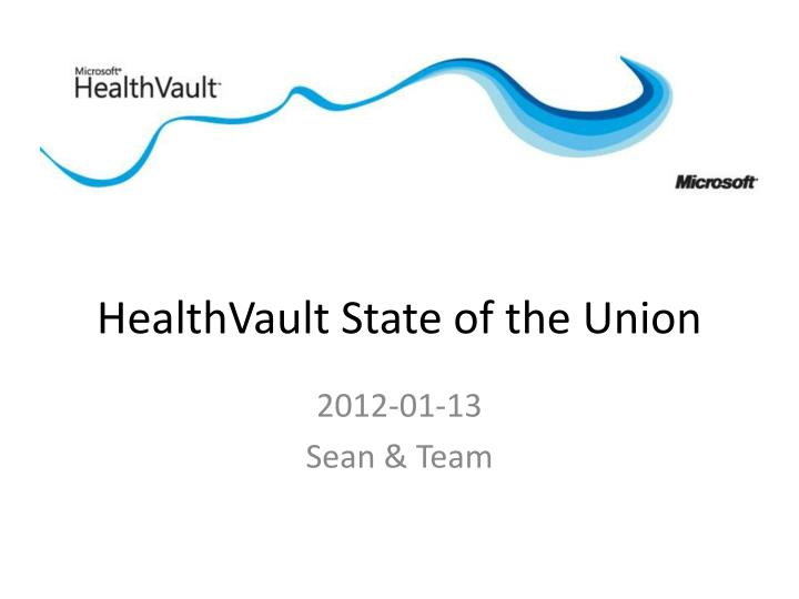 healthvault state of the union n.