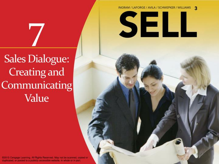sales dialogue creating and communicating value n.