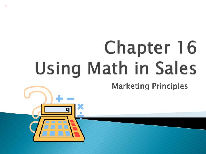 chapter 16 using math in sales n.