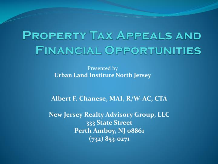 property tax appeals and financial opportunities n.