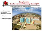 being creative our tax increment financing district tif