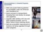 recommendation 1 potential programs accessibility