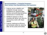 recommendation 1 potential programs muni vehicle fleet rehabilitation and expansion