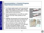 recommendation 1 potential programs rapid network enhancements