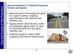 recommendation 1 potential programs streets and signals