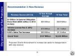 recommendation 2 new revenue