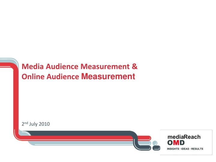 media audience measurement online audience measurement