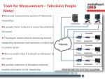 tools for measurement television people meter