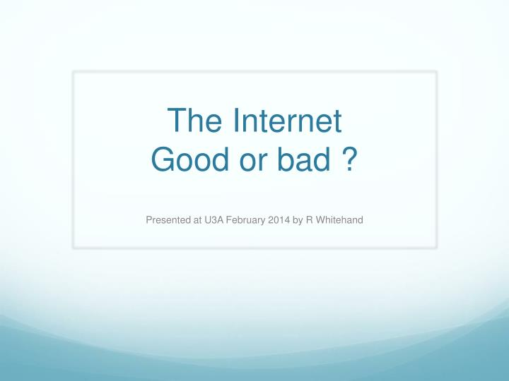 Internet sources for a research paper