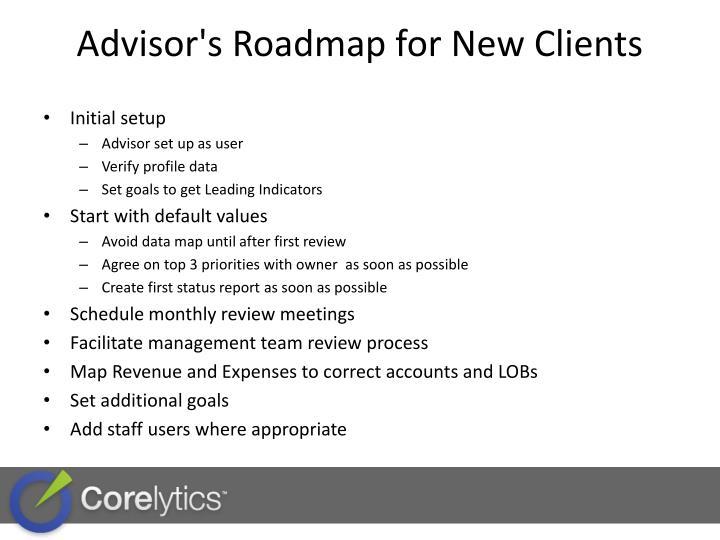 Advisor's Roadmap for New Clients