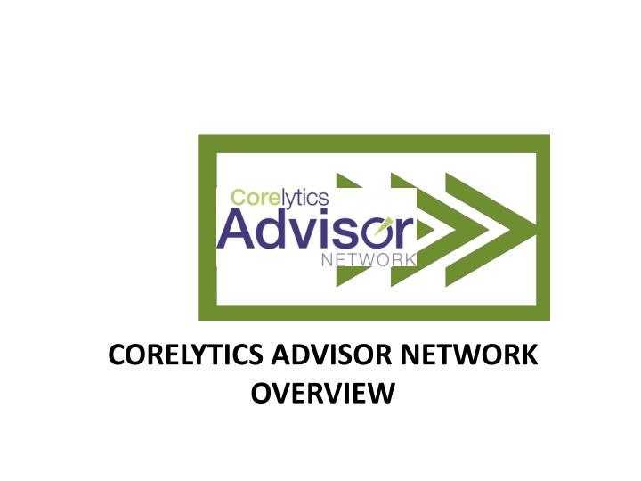 Corelytics Advisor Network Overview