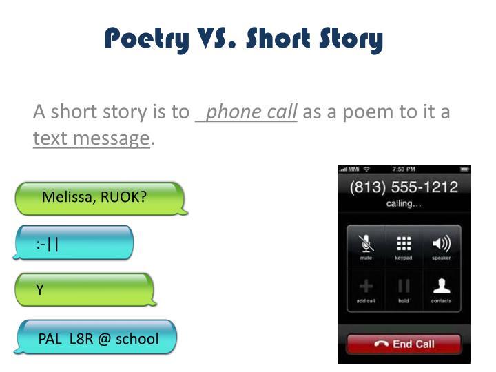 Poetry vs short story