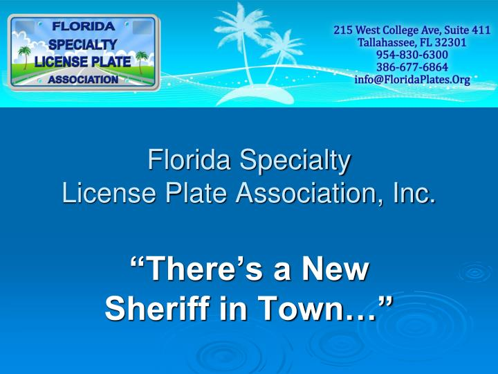 florida specialty license plate association inc n.