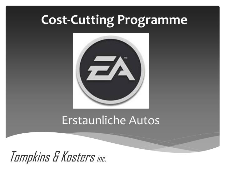 cost cutting programme n.