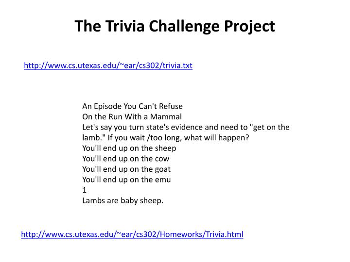 The Trivia Challenge Project