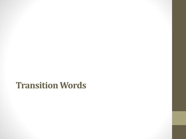 transition words n.